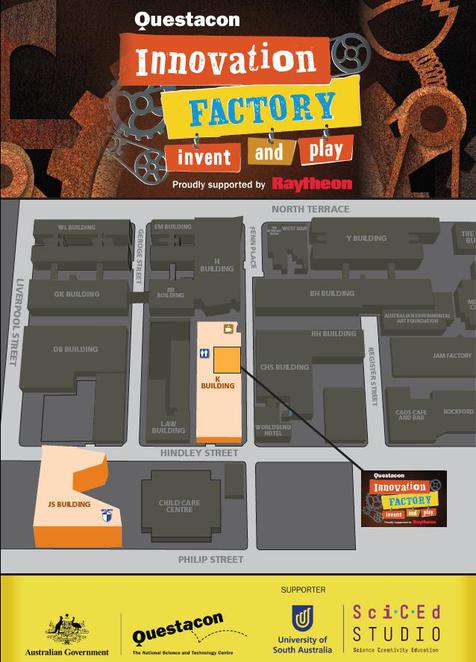 Innovation Factory - Invent and Play, UniSA City West campus, Questacon