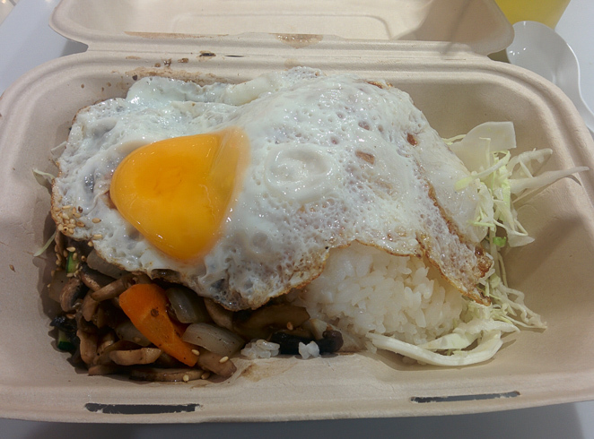 Chicken stir-fry with egg at Teppanyaki Lovers