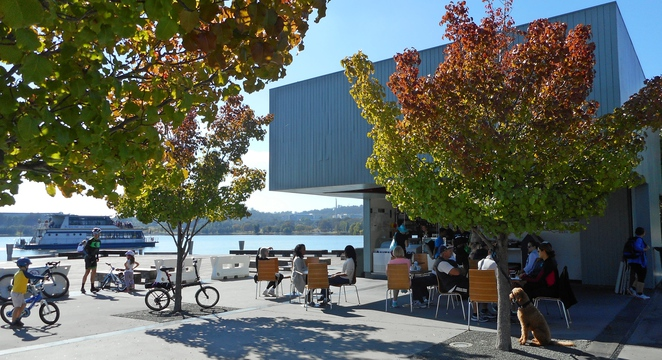 lake burley griffin, queen elizabeth terrace, canberra, ACT, doms, coffee and gelato,