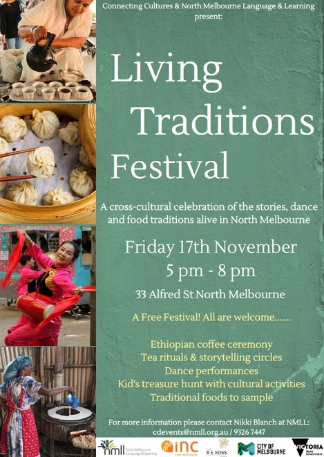 living traditions festival, community event, cultural event, activities, entertainment, storytelling traditional dances, cooking traditional foods, nmil, north melbourne language and learning, fun things to do, community event, family fun, cultural diversity