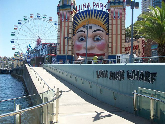 Luna Park Wharf. This image is from Wikimedia Commons (by Abesty).