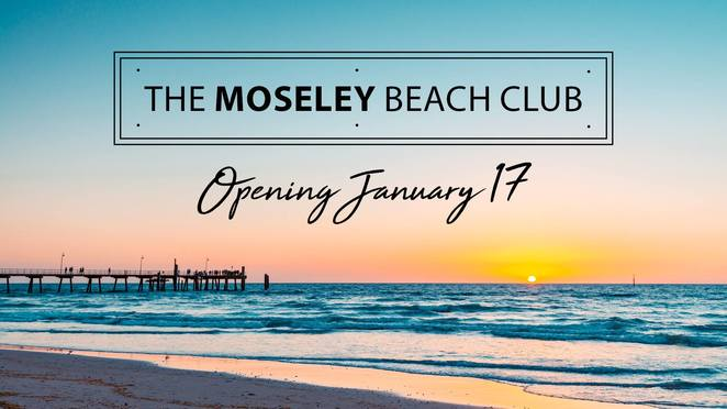 Moseley beach club, Moseley bar & kitchen, sun lounge, day bed, food, drink, picnic, bean bags, sunset, beach games, live music, DJ