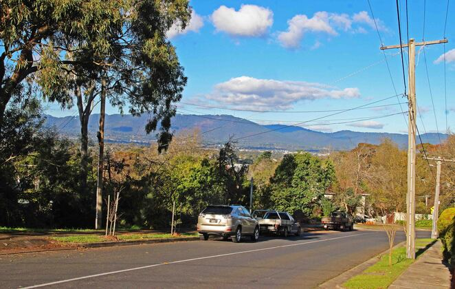 Mt. Dandenong from Stirling Road.