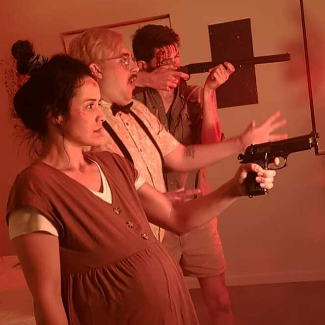 Night Of The Living Bin Chicken, Adam McDowell, Daniel R. Ward, Samuel Maynard-Brewer, Jennah Bannear, Jarrod Lockwood, Ibis, Birds, Bin Chicken, Bin, Chicken, Zombie, Cult, Bird Cult, Birds, Amniotic Fluid, Pregnant, Horror, Short, Musical, Horror, Horror-Musical, Perth Movie, Perth Film, Perth, Western Australia, Night Of The Living Dead, The Birds, SAE, WA, Australian Cinema