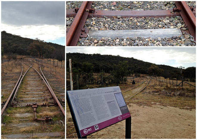 old tuggeraing railway, marking the border, tuggeranong railway walk, tralee, walks in canberra, historical walks in canberra, ACT,