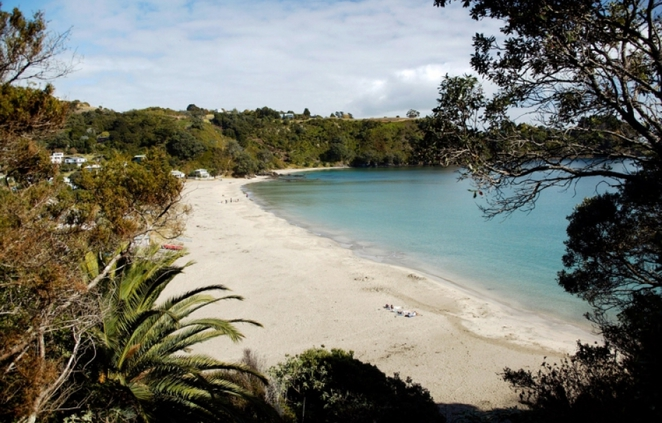 oneroa beach, auckland, new zealand
