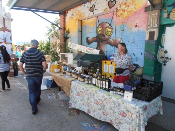 The Saturday markets at Perth City Farm are always a hive of activity.