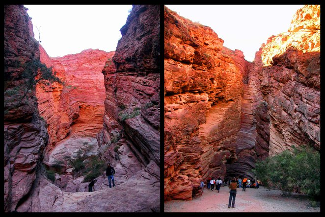 Salta province north west argentina cafayate devil's throat amphitheatre natural rock geological formations