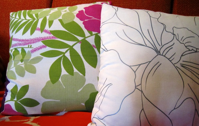 Sewing class, Cushions