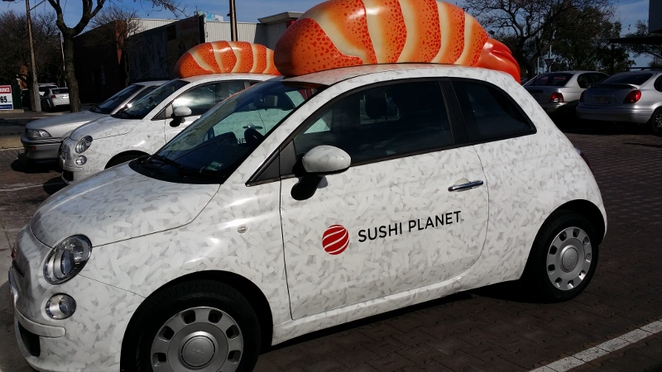 Sushi Planet, Delivery Car, Adelaide