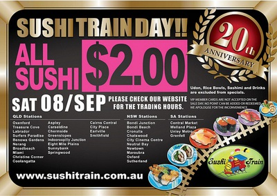 Sushi Train - $2 ALL DAY