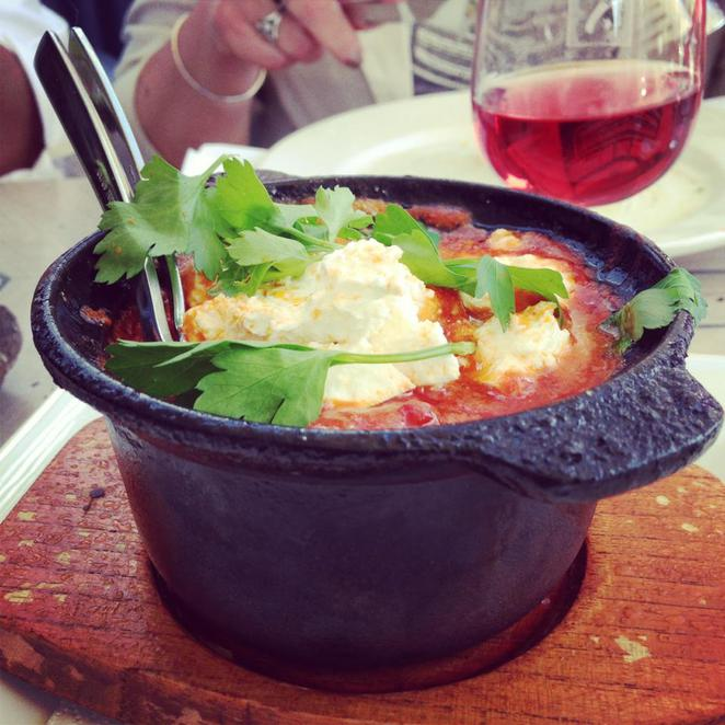 tatler, wines, tapas cafe, hunter valley, nsw, dine, prawn saganaki, feta, tomato, chilli, food, foodie