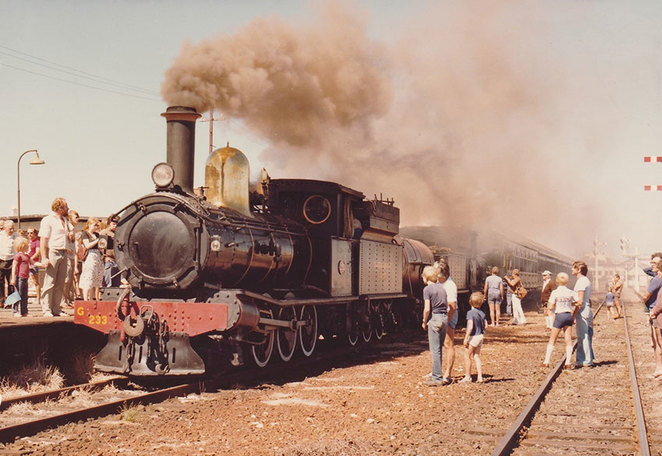 The iconic steam locomotive 'Leschenault Lady', housed at the South West Rail and Heritage Centre, powered many a tourist train in the South West, during the 1970s, 80s and 90s.