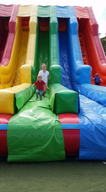 Toowoomba, inflatable, slide, sideshow alley, fun, show