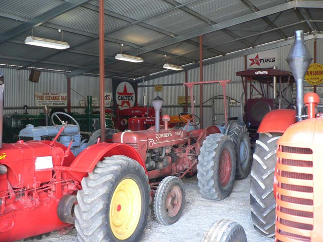 tractor collection in Roseworthy Agricultural Museum