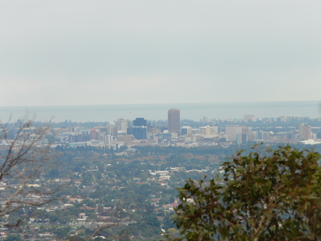 view, lookout, Adelaide, city