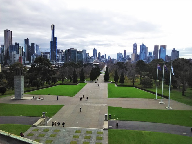 views from shrine of remembrance