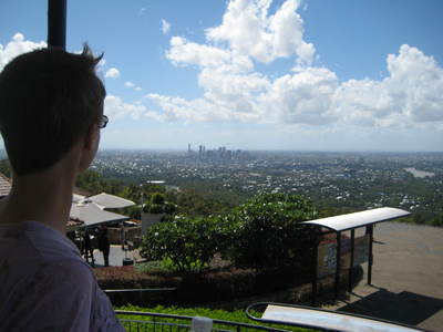 views from summit of Mt Coottha