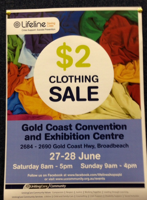 What can you get for $2, cheap things, Gold Coast, steak, lifeline clothing sale, kids rides, massage chairs, cheap coffee, cheap food