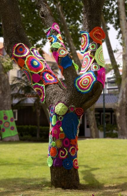 Yarn Bombing at Eastland Shopping Centre