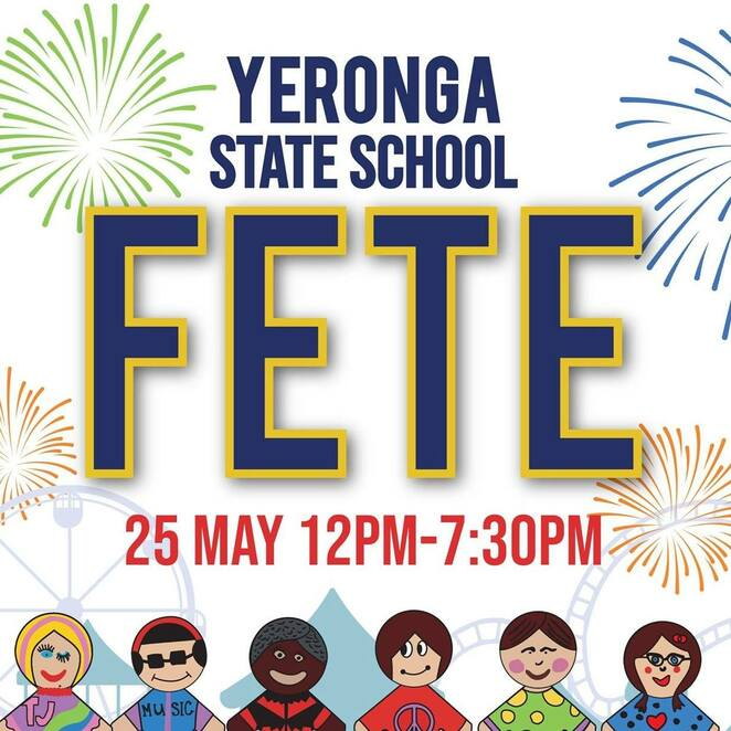 yeronga state school fete 2019, community event, fun things to do, activities, entertainment, fireworks, free event, international food, bar, rides, cake stall, local businesses, pre loved goods, second hand toys, sporting equipment, books, vintage clothes, shopping, markets