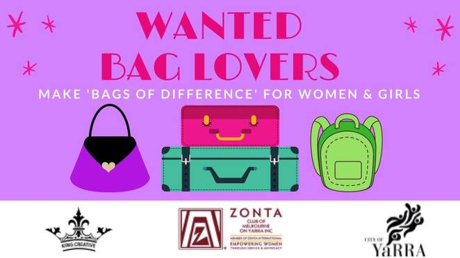 zonta charity vintage bag sale 2018, zonta preloved bag sale, fundraiser, charity, fun things to do, community event, handbags, suitcases, kids bags, designer bags designer label bags, shopping, handbags, zonta club of melbourne on yarra, fitzroy town hall, oroton, glo mesh, dior, kate spade, gucci, louis vuitton, vegan leather bags, luggage, back packs, sports bags, childrens bags, bags for men, herspace, say no to violence, supporting women and girls, empowering women and girls