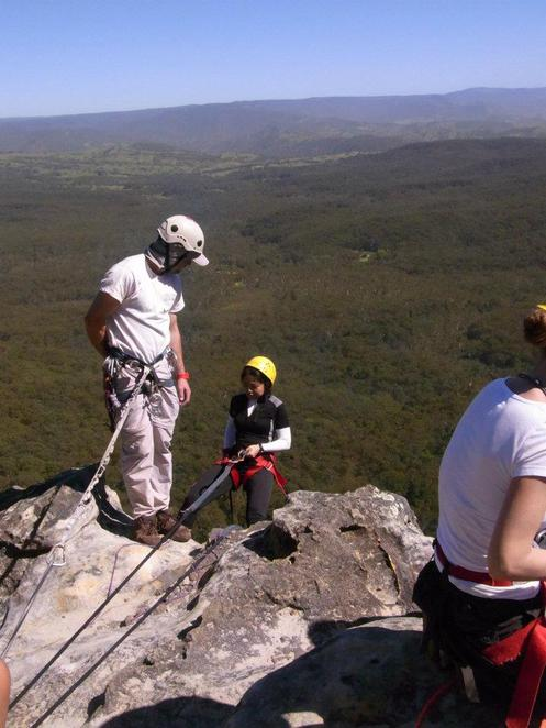 abseiling canyoning blue mountains national park high wild