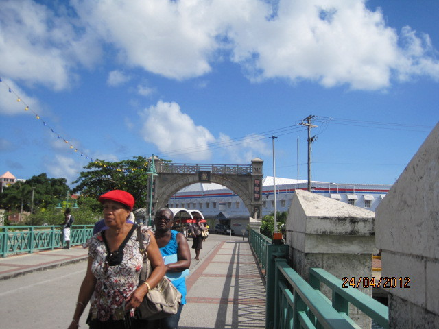 Beside the Memorial Arch in Bridgetown