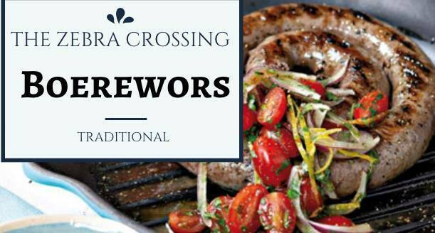 Boerewors Tasting, South African sausage, The Zebra Crossing, coriander, nutmeg, cloves, All Spice, black pepper, traditional recipe, delicacy, variety of flavours, chakalaka, Russian sausages, BBQ pork rashers, lamb wors, South Africa alcohol, coffee, kitchen, breakfast, lunch, gifts