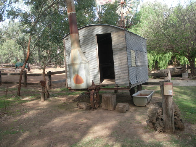 caravan,fire,early settlers,swan hill,pioneer settlement