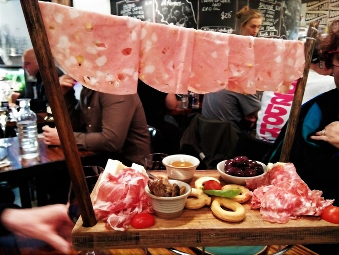 charcuterie platter at 39 pizzaria melbourne