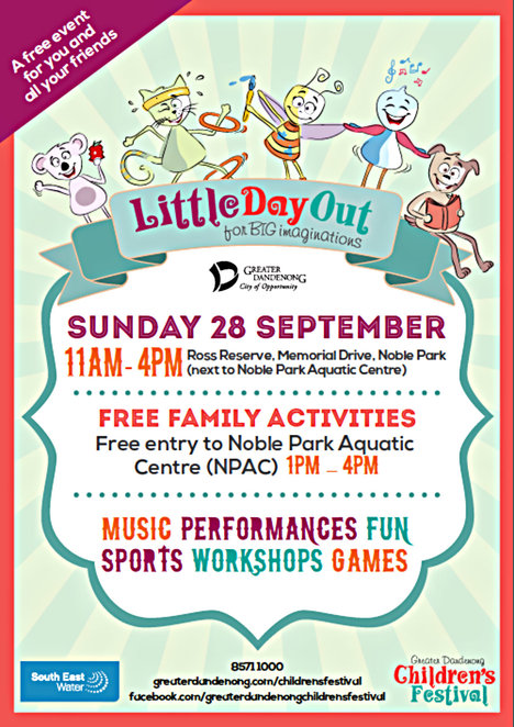 children's festival, city of greater dandenong, performances and events, workshops, exhibitions, movies and animations, arts and crafts, cooking, puppetry, cake decorating, gardening, sporting events, comedy and drama, dandenong civic square