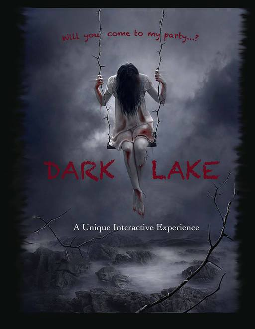 Dark Lake, Sunshine Coast, haunting, interactive horror performance, macabre, grisly, pervasive air of menace, hauntings, unquiet spirits, walk-around performance, six shows, fifteen years and older, secret location, Hunted The Interactive Horror Experience