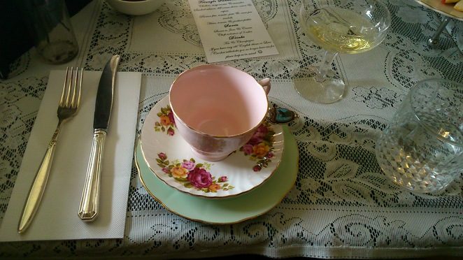 Fine china cup and saucer