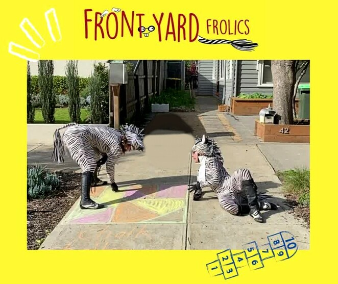 front yard frolics, born in a taxi, chalk challenge 2020, draw in chalk on your foothpath, chalk drawin on driveway, happy message, corona virus relief, covid-19 activities, art, chalk creations, family fun, fun things to do, community event, altona north