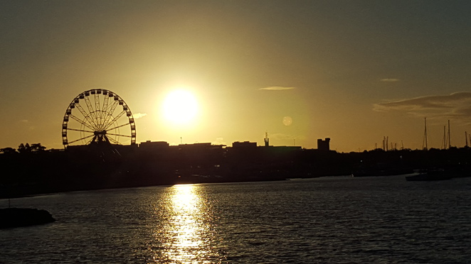 Ferris Wheel at Sunset, Geelong