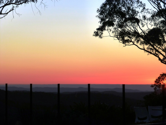 hideaway retreat, sunset, wentworth falls, blue mountains