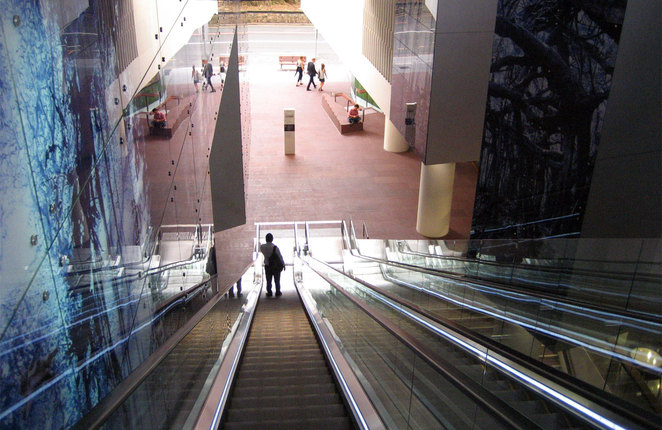 The escalator to the park