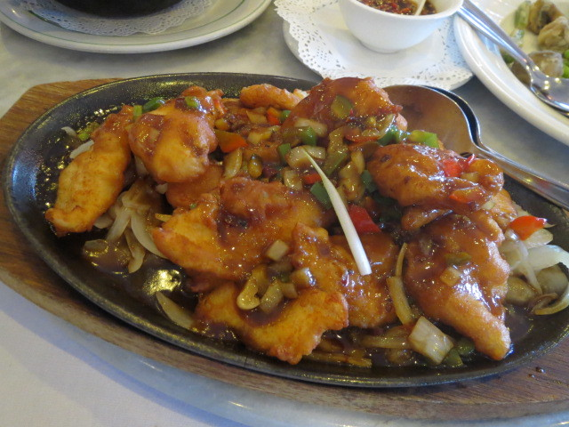 House of Chow Restaurant, Sizzling Fillet of Fish in Szechuan Sauce, Adelaide