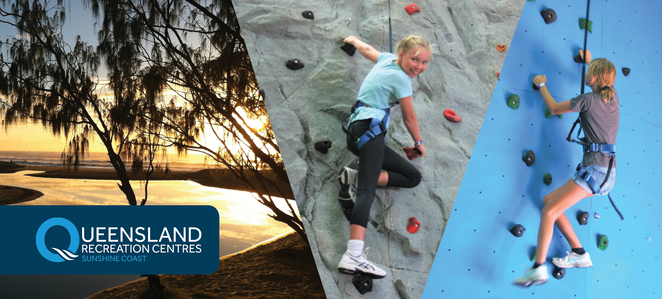 Indoor Rock Climbing, The Rock Face, Sunshine Coast Recreation Centre, Currimundi, Caloundra, beginners to skilled, soar to new heights, challenges, every Saturday all year, school holidays, ten different climbs, crack only climbs, overhangs, automatic belay systems, solo climbs, sturdy shoes, children aged 5 years and older, family activity, fitness adventure