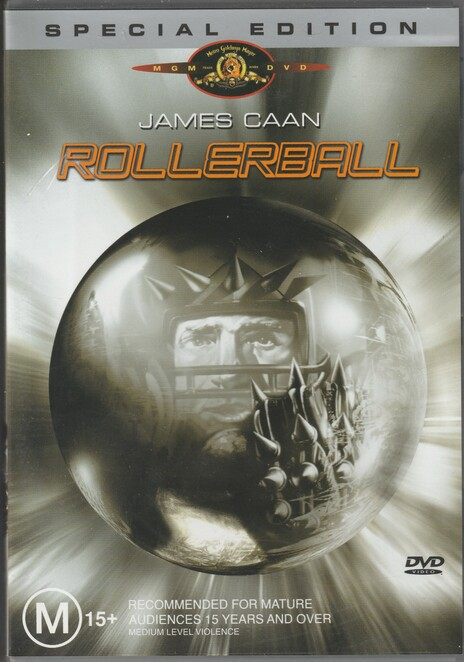 james caan, rollerball, film, movie, DVD, cover, poster