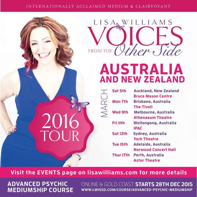 lisa williams australian tour