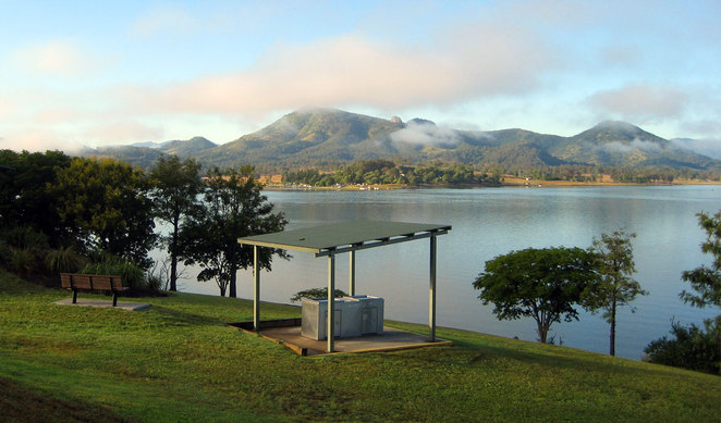 The hike starts at Fred Haigh Park at Lake Moogerah where there is a cafe, barbecues and picnic tables