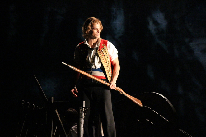 Les Miserables' Enjolras played by Chris Durling (photo by Adrian Kmita)