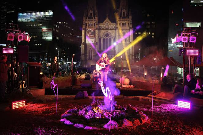 light the winter in federation square