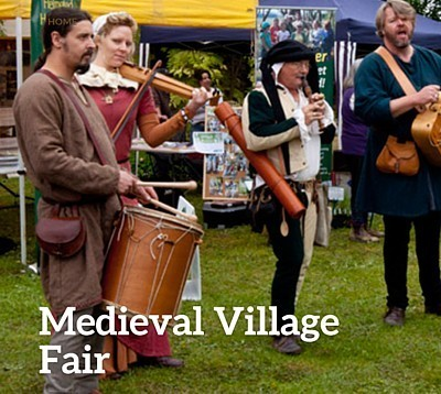Medieval Camelot Castle Open for Fair at Yellingbo