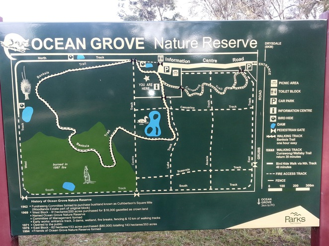 Ocean Grove Nature Reserve, Map