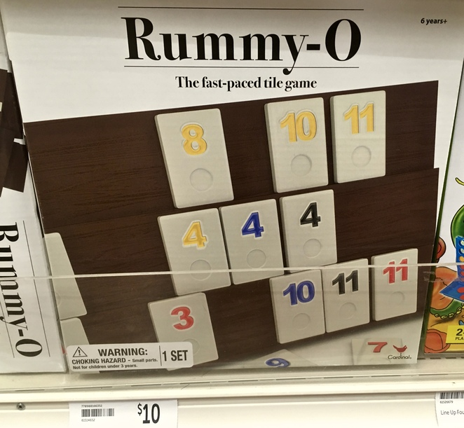 Rummy Board Game, board games for kids, cheap Christmas presents for kids, board games, Big W, Kris Kringle gifts