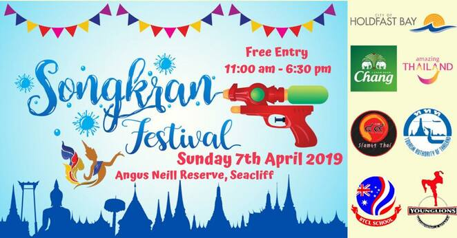 songkran festival 2019, community event, fun things to do, cultural event, the thai festival & cultural association, south australia incorporated, angus neill reserve, arts and crafts, markets, miss songkran beauty contest, rod nu m phu yai, dr richard harry sc oam, thai dancing, thai boxing demonstrations, thai cooking demonstrations, thai food, thai chang beer garden, the city of holdfast bay, the royal thai embassy, tourism authority of thailand, chang beer