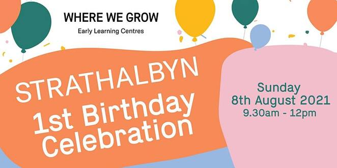 strathalbyn 1st birthday celebration, where we grow early learning centres, breakfast bbq, coffee, warangwong wildlife sanctuary, activities, family fun, centre tours, fun for kids